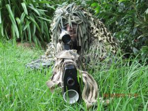 My husband Zayd as a sniper. Team Dawood!